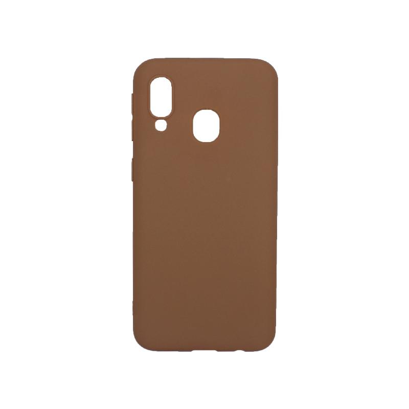 Θήκη Samsung Galaxy A40 Σιλικόνη καφέ