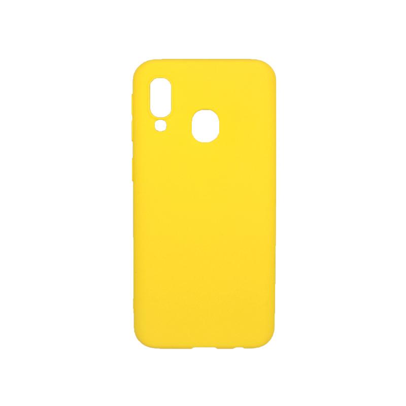 Θήκη Samsung Galaxy A40 Σιλικόνη κίτρινο