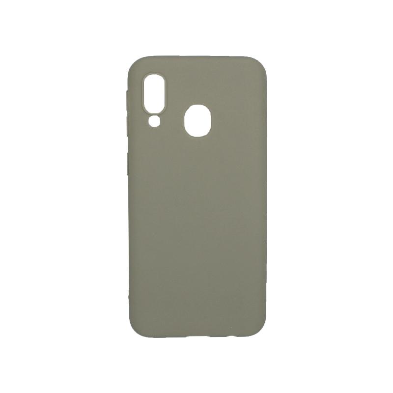 Θήκη Samsung Galaxy A40 Σιλικόνη λαδί