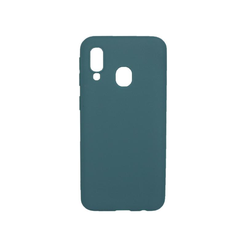 Θήκη Samsung Galaxy A40 Σιλικόνη πετρόλ
