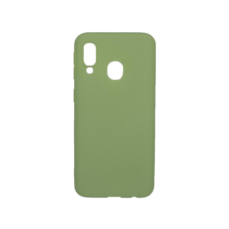 Θήκη Samsung Galaxy A40 Σιλικόνη πράσινο