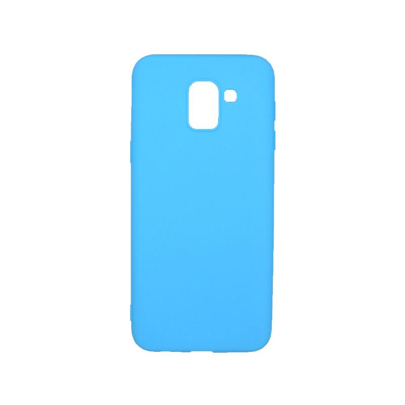 Θήκη Samsung Galaxy J6 Σιλικόνη γαλάζιο 1