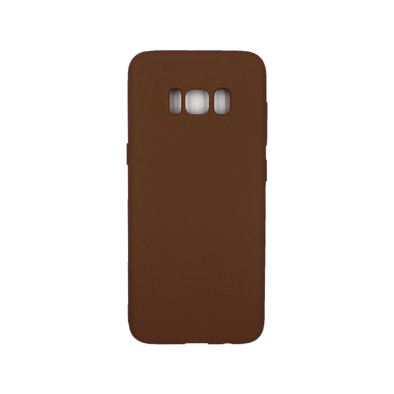 Θήκη Samsung Galaxy S8 Σιλικόνη καφέ