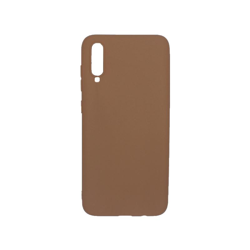 Θήκη Samsung Galaxy A70 / A70S Σιλικόνη καφέ