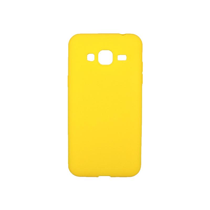 Θήκη Samsung Galaxy J3 2016 Σιλικόνη κίτρινο