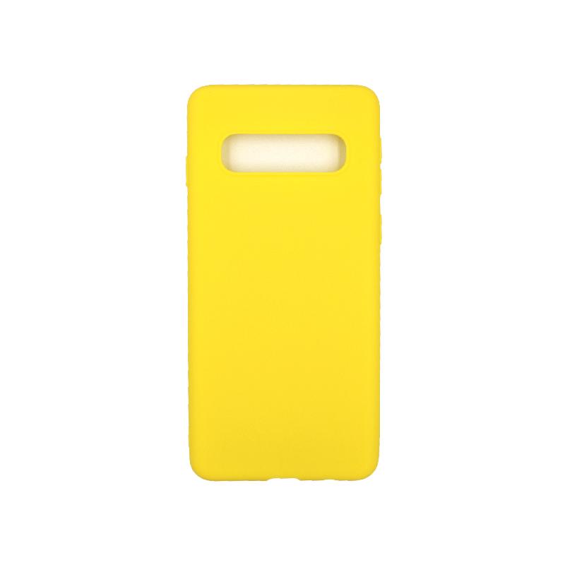 Θήκη Samsung Galaxy S10 Σιλικόνη κίτρινο