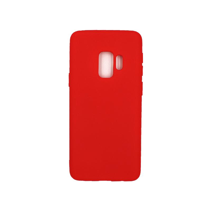 Θήκη Samsung Galaxy S9 Σιλικόνη κόκκινο