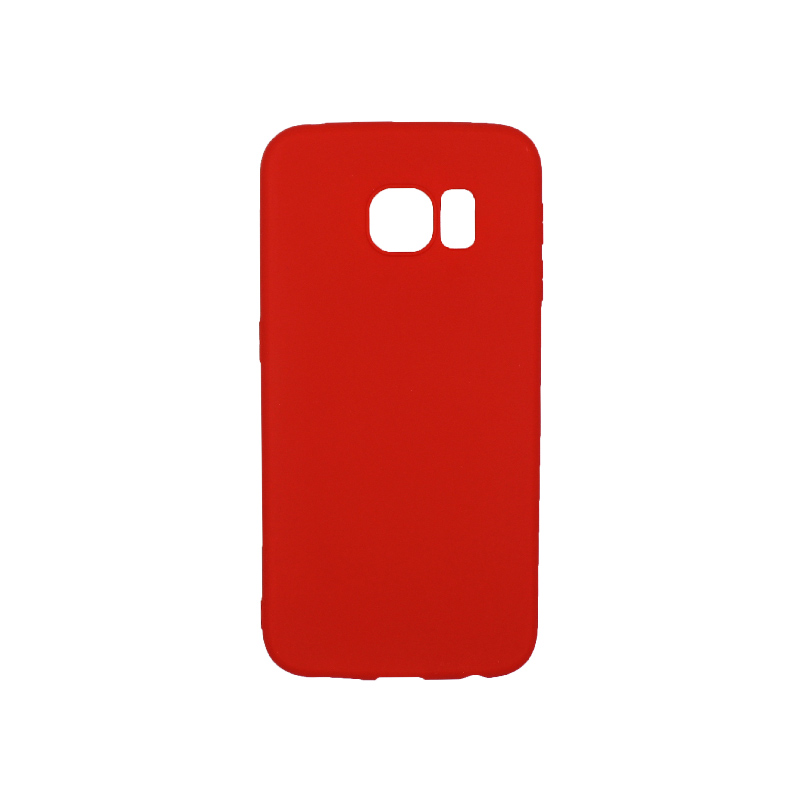 Θήκη Samsung Galaxy S6 Edge Σιλικόνη κόκκινο