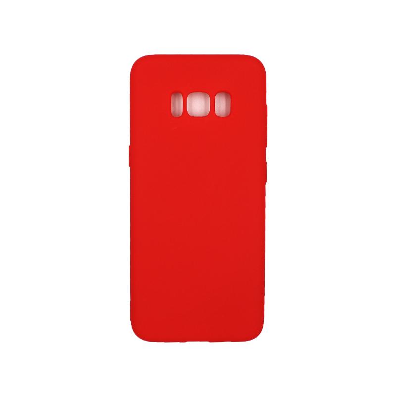 Θήκη Samsung Galaxy S8 Σιλικόνη κόκκινο