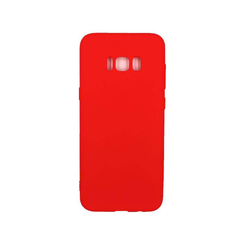 Θήκη Samsung Galaxy S8 Plus Σιλικόνη κόκκινο