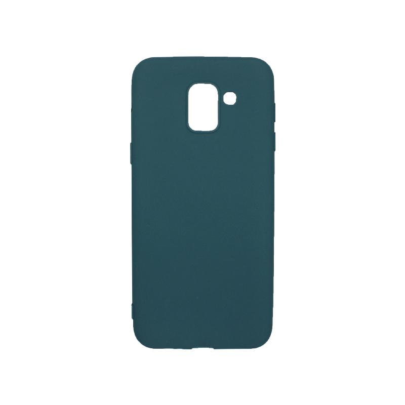 Θήκη Samsung Galaxy J6 Σιλικόνη πετρόλ 1