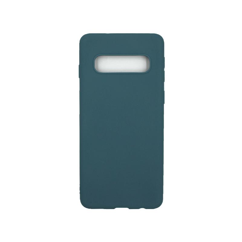 Θήκη Samsung Galaxy S10 Σιλικόνη πετρόλ