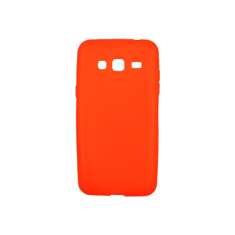 Θήκη Samsung Galaxy J3 2016 Σιλικόνη πορτοκαλί