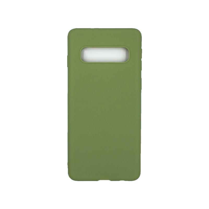 Θήκη Samsung Galaxy S10 Σιλικόνη πράσινο