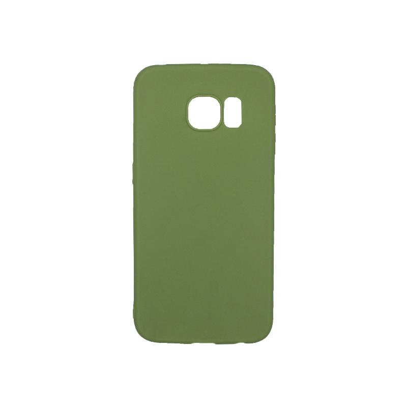 Θήκη Samsung Galaxy S6 Edge Σιλικόνη πράσινο