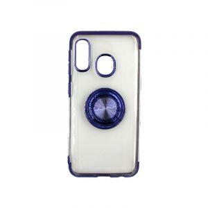 Θήκη Samsung Galaxy A10e / A20e Διάφανη Σιλικόνη με Popsocket μωβ 1