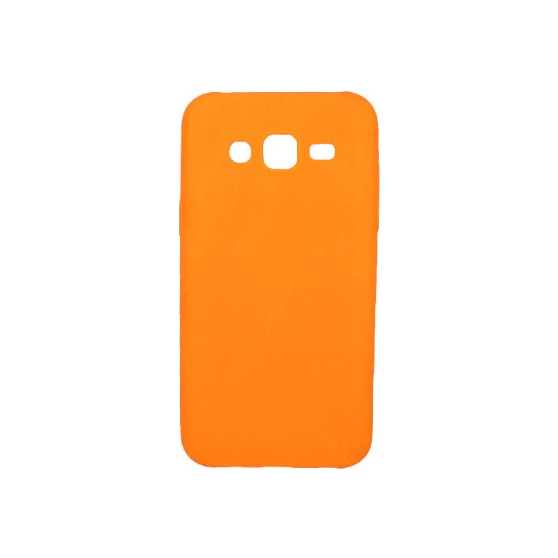 Θήκη Samsung Galaxy J5 Σιλικόνη πορτοκαλί