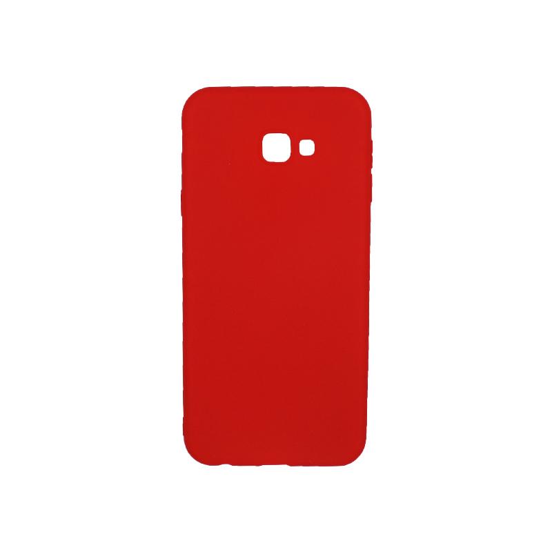 Θήκη Samsung Galaxy J4 Plus Σιλικόνη κόκκινο