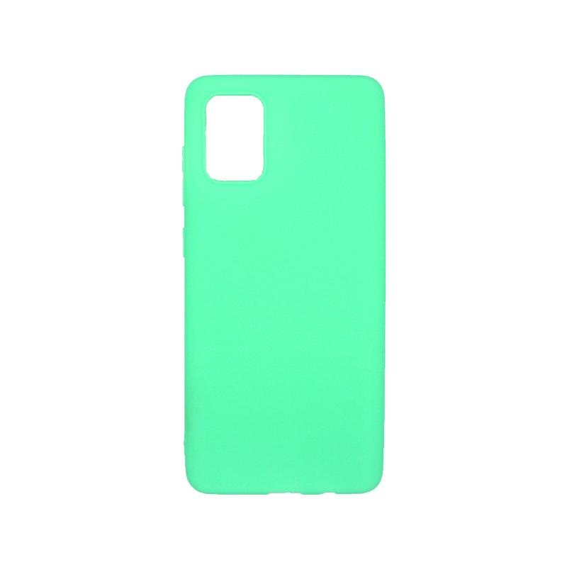 Θήκη samsung Α51 σιλικόνη απλή πράσινο