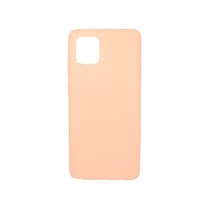 Θήκη Samsung A81 / Note 10 Lite Σιλικόνη μπεζ