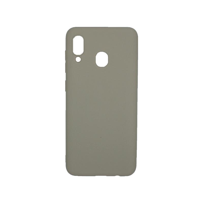 Θήκη Samsung Galaxy A20 / Α30 Σιλικόνη γκρι