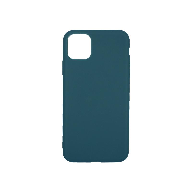 θήκη iphone 11 pro max σιλικόνη πετρόλ