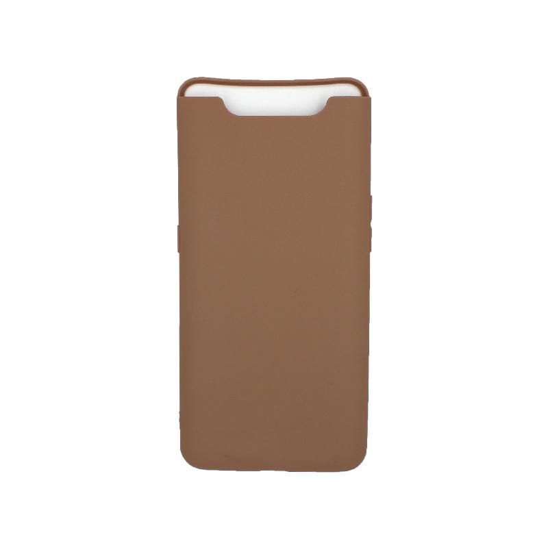Θήκη Samsung Galaxy A80 / A90 Σιλικόνη καφέ