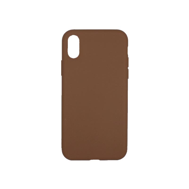 θήκη iphone X / XS/ XR / XS MAX σιλικόνη καφέ