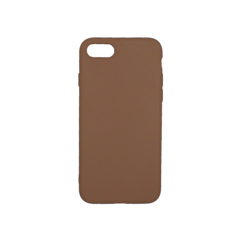 θήκη iphone 7 / 8 σιλικόνη καφέ
