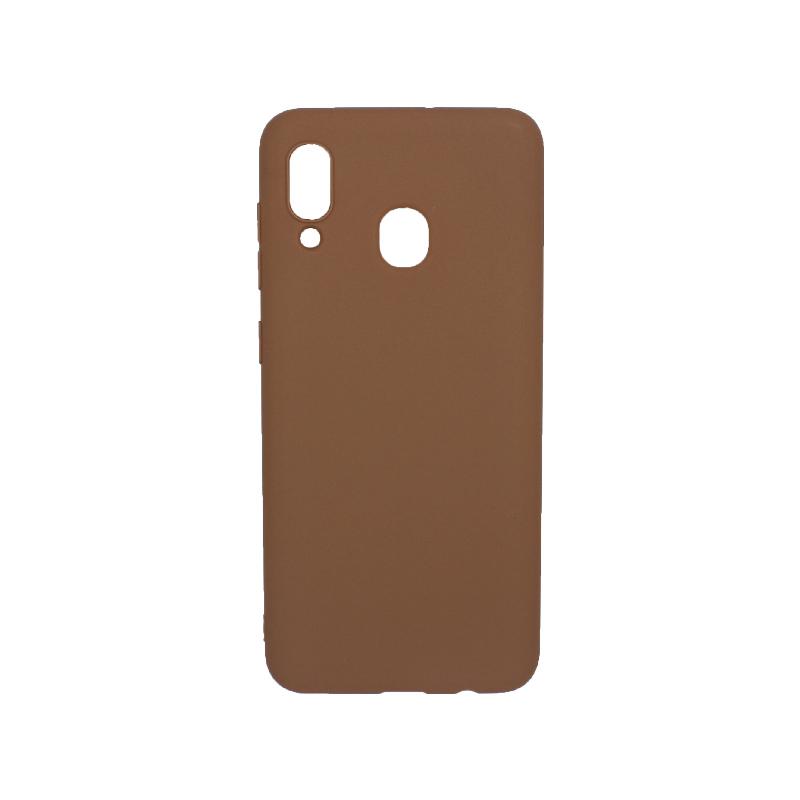 Θήκη Samsung Galaxy A20 / Α30 Σιλικόνη καφέ