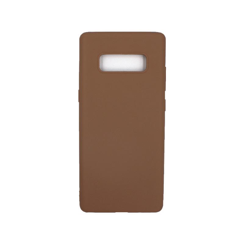 Θήκη Samsung Galaxy Note 8 σιλικόνη καφέ