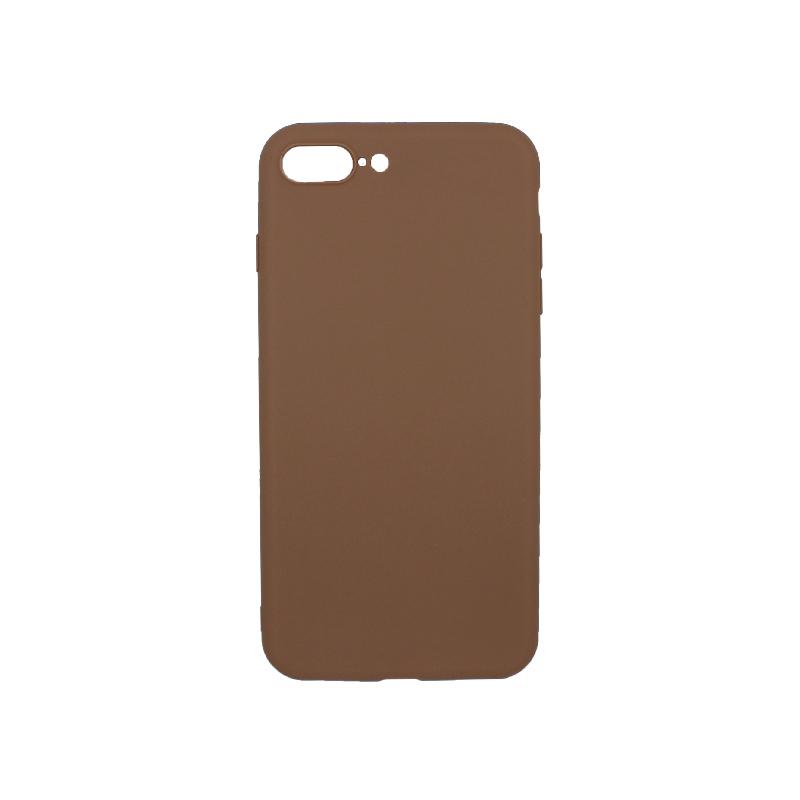 θήκη iphone 7 Plus / 8 Plus σιλικόνη καφέ