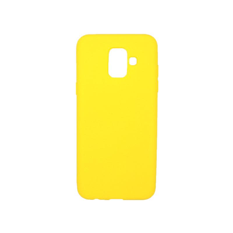 Θήκη Samsung Galaxy Α6 Σιλικόνη κίτρινο