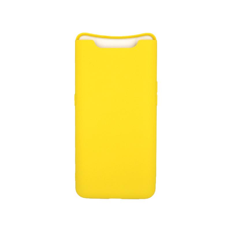 Θήκη Samsung Galaxy A80 / A90 Σιλικόνη κίτρινο