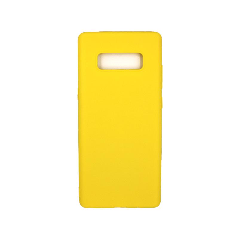Θήκη Samsung Galaxy Note 8 σιλικόνη κίτρινο