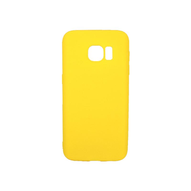 Θήκη Samsung Galaxy S7 Σιλικόνη κίτρινο