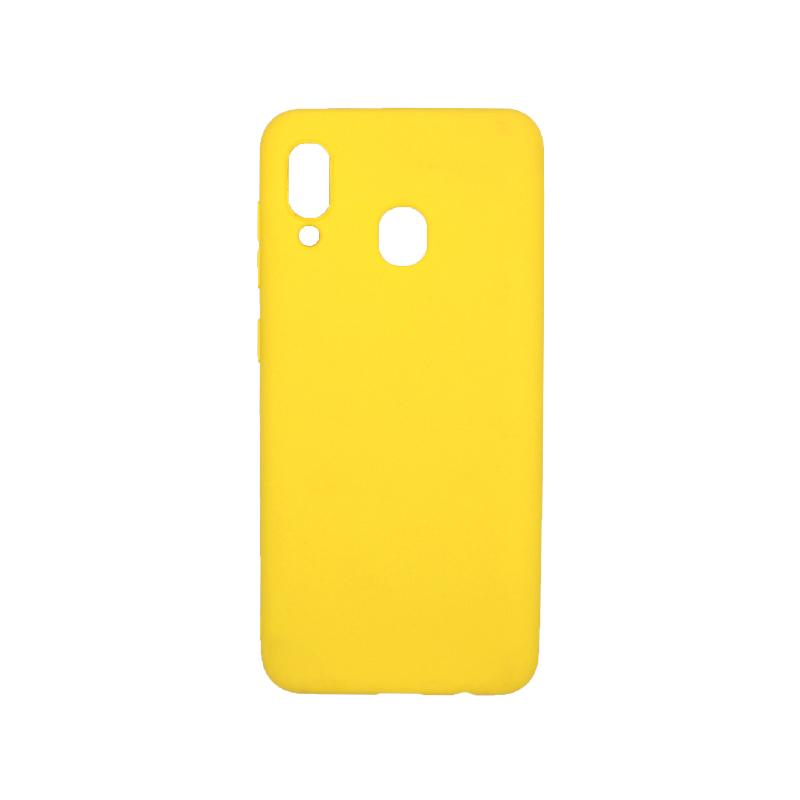 Θήκη Samsung Galaxy A20 / Α30 Σιλικόνη κίτρινο