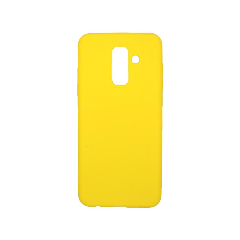 Θήκη Samsung Galaxy A6 Plus / J8 2018 Σιλικόνη κίτρινο
