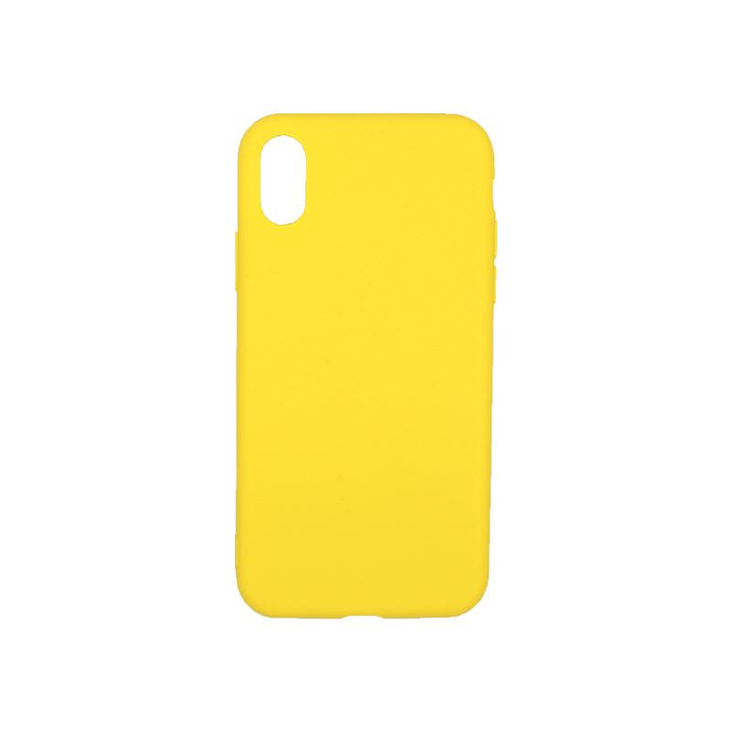 θήκη iphone X / XS / XR / XS MAX σιλικόνη κίτρινο