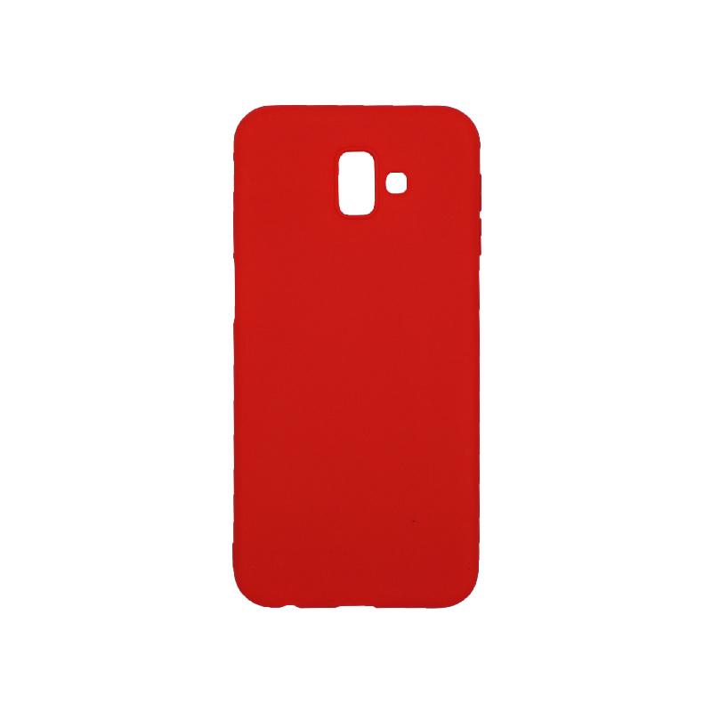 Θήκη Samsung Galaxy J6 Plus Σιλικόνη κόκκινο