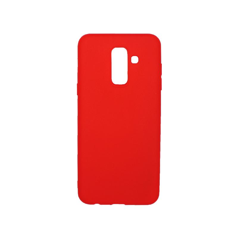 Θήκη Samsung Galaxy A6 Plus / J8 2018 Σιλικόνη κόκκινο