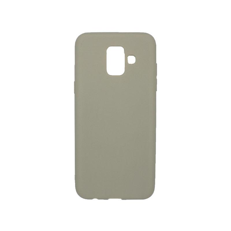 Θήκη Samsung Galaxy Α6 Σιλικόνη λαδί