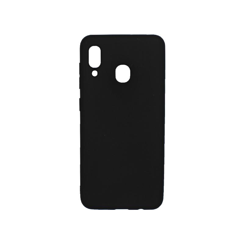 Θήκη Samsung Galaxy A20 / Α30 Σιλικόνη μαύρο