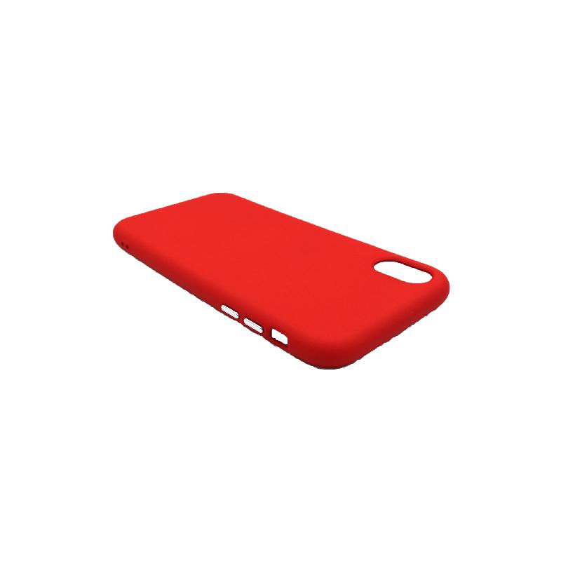 Θήκη iPhone X / Xs / Xr Σιλικόνη με Ασημένιες Λεπτομέρειες κόκκινο 3