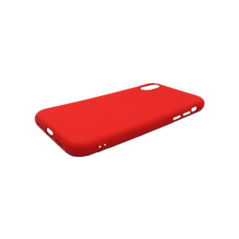 Θήκη iPhone X / Xs / Xr Σιλικόνη με Ασημένιες Λεπτομέρειες κόκκινο 2