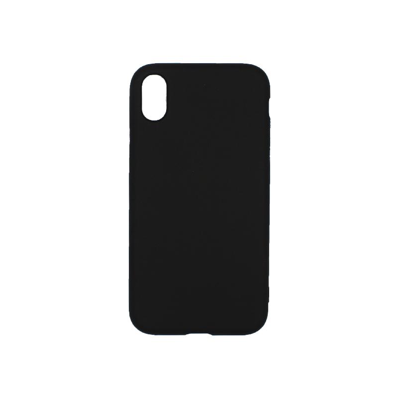 θήκη iphone X / XS / XR / XS MAX σιλικόνη μαύρο 1