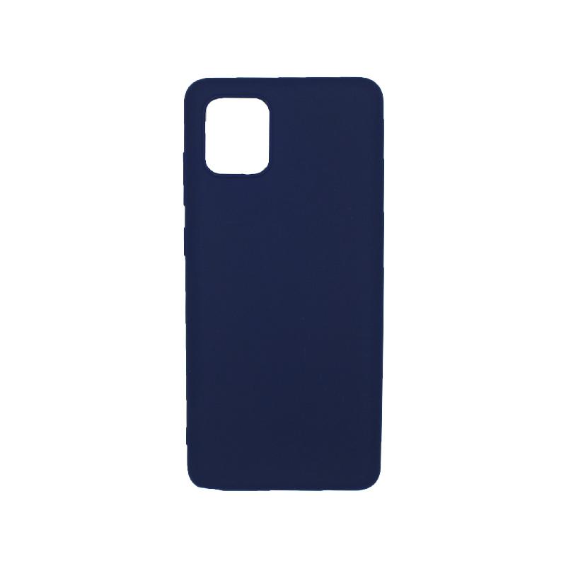 Θήκη Samsung A81 / Note 10 Lite Σιλικόνη σκούρο μπλε