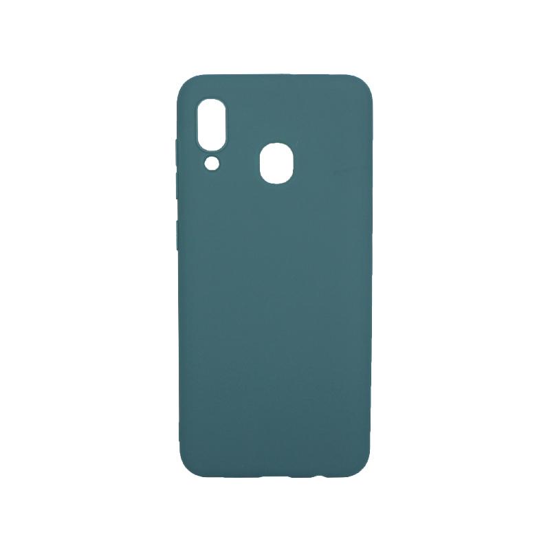Θήκη Samsung Galaxy A20 / Α30 Σιλικόνη πετρόλ