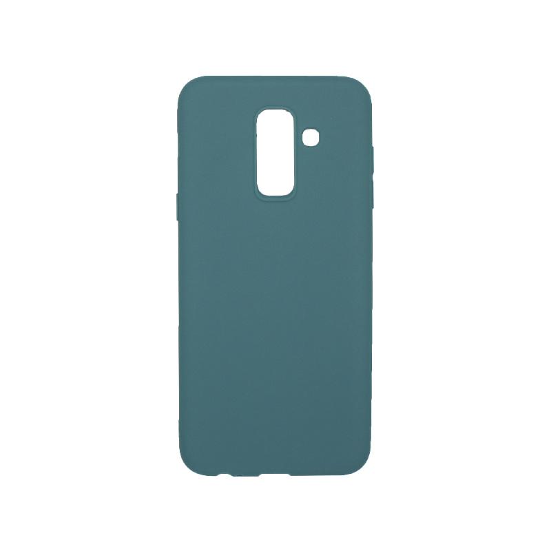 Θήκη Samsung Galaxy A6 Plus / J8 2018 Σιλικόνη πετρόλ