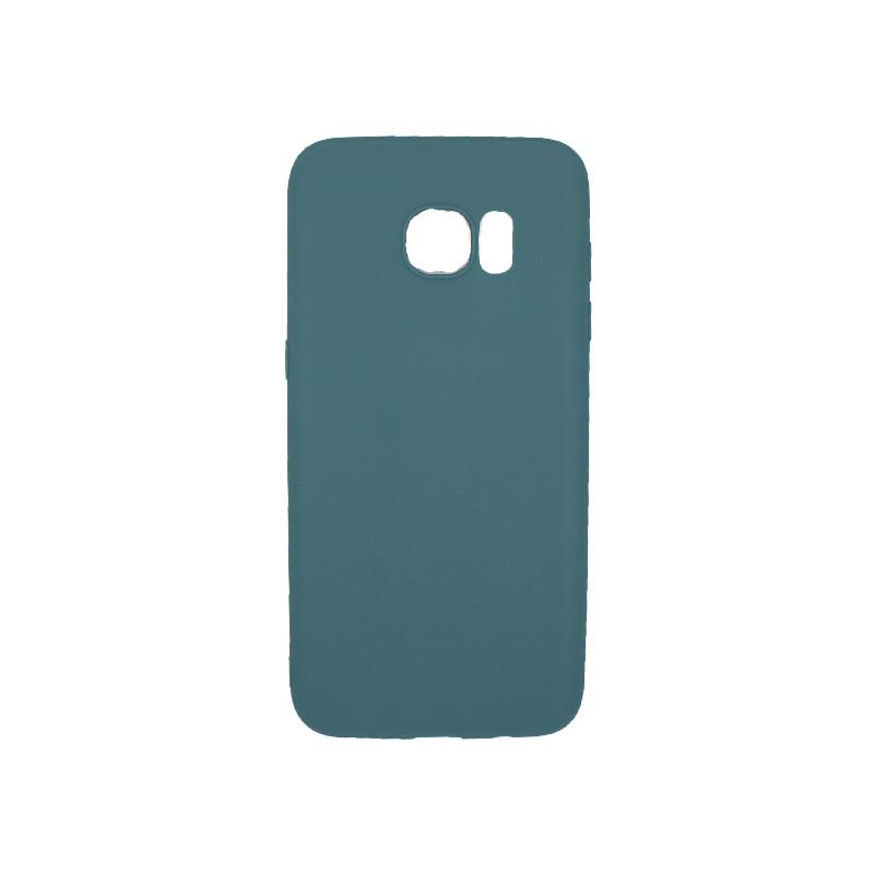 Θήκη Samsung Galaxy S7 Edge Σιλικόνη πετρόλ